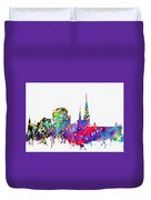 Dortmund Skyline-colorful Duvet Cover