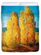 Dos Arboles De Taos Duvet Cover