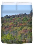 Dots Of Fall Colors Duvet Cover