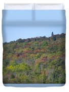 Dots Of Fall Colors Duvet Cover