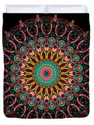 Dotted Wishes No. 4 Mandala Duvet Cover