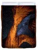 Double Arch And The Milky Way - Utah Duvet Cover