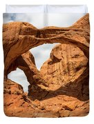 Double Arch - Arches National Park Utah Duvet Cover