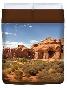 Double Arch Famous Landmark In Arches National Park Utah Duvet Cover