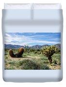 Double Barrel Cactus Duvet Cover