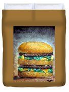 Double Burger To Go Duvet Cover