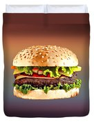 Double Cheeseburger  Duvet Cover