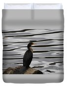 Double-crested Cormorant 20121101_128 Duvet Cover
