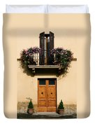 Double Doors And Balcony Duvet Cover
