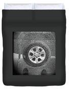 Double Exposure Manhole Cover Tire Holga Photography Duvet Cover