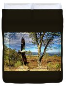 Double Exposure Osprey And High Point Nj Duvet Cover