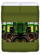 Double Green Machines Duvet Cover