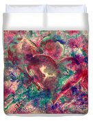 Abstract Double Hearts Duvet Cover