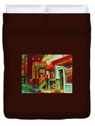 Double Hook Book Nook Duvet Cover