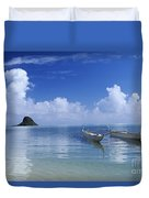 Double Hull Canoe Duvet Cover by Joss - Printscapes