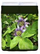 Double Passion Flowers Duvet Cover