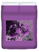 Double Poppies In Purple Duvet Cover