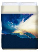 Double Rainbow Over Provo, United States Duvet Cover