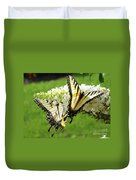 Double The Pleasure - Eastern Tiger Swallowtails Duvet Cover
