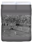 Doubles Tennis At Forest Hills Duvet Cover