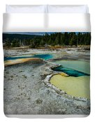 Doublet Pool Hot Spring In Yellowstone Duvet Cover