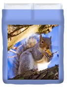 Douglas Squirrel Eating Duvet Cover