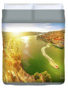 Douro River At Sunset Duvet Cover