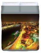 Douro River Skyline Night Duvet Cover
