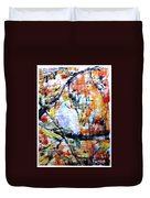 Dove On The Yellow Tree Duvet Cover