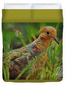 Dove Painterly Duvet Cover