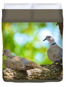 Doves In A Tree Duvet Cover