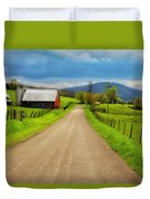 Down A Country Lane Duvet Cover