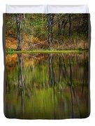 Down At Pecks Pond Duvet Cover