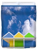 Down At The Beach Duvet Cover