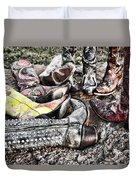 Down Boots Up Boots Duvet Cover