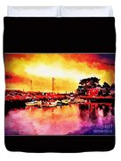 Down By Dock 2 Duvet Cover