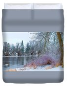 Down By The Riverbend Duvet Cover