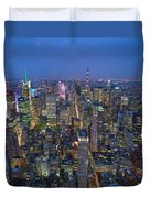 Down In The City  Duvet Cover
