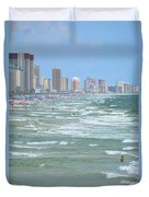 Down The Beach Duvet Cover