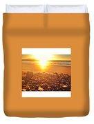Down The Beach #beach Duvet Cover