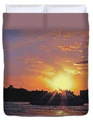 Down The Hudson Duvet Cover