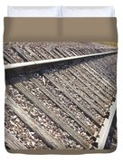 Down The Railroad Duvet Cover