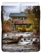 Down The Road To Greenbanks's Hollow Covered Bridge Duvet Cover
