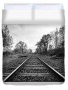 Down The Tracks Duvet Cover