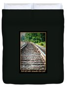 Down The Tracks Duvet Cover