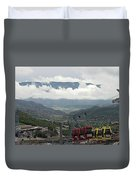 Down The Valley At Snowmass Duvet Cover