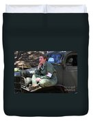 Down Time-us Army Nurse Corps Duvet Cover
