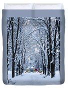 Down To The Park Duvet Cover