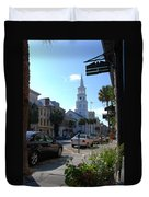 Down Town Charleston Duvet Cover