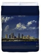 Down Town Tampa Duvet Cover